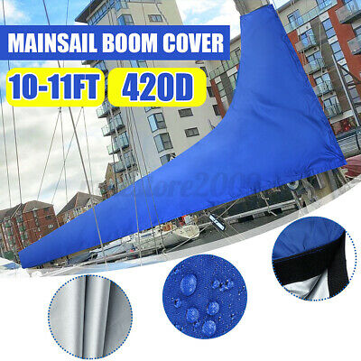 $45.08 • Buy 3.5m Sail Cover - Mainsail Boom Cover 10-11ft Waterproof Fabric Blue *