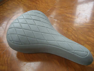 AU41.53 • Buy Vintage Old School 1980s TROXEL Quilted Padded BMX Bike Seat Saddle Gray