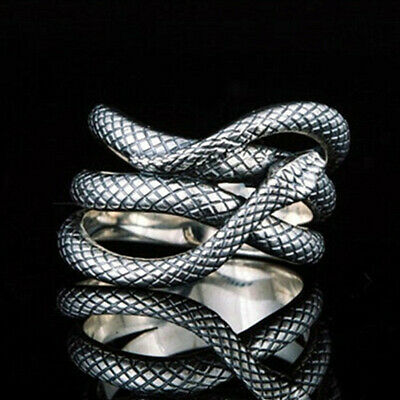£1.95 • Buy 925 Silver Rings Women,Men Anniversary Rings Snake Shaped Party Rings Size 6-10
