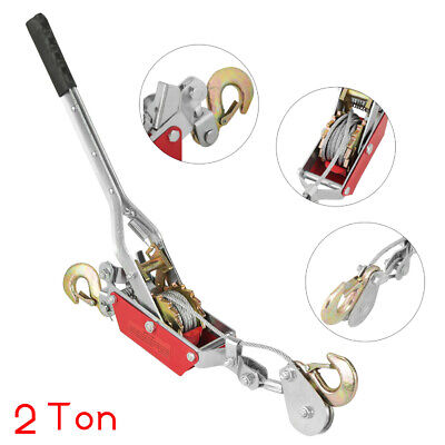 £15.99 • Buy 2 T Heavy Duty Cable Puller Hand Winch Puler Fencing Turfer For Car Boat Trailer