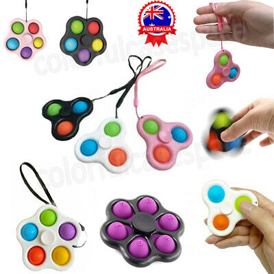 AU1.99 • Buy Pop Fidget Toy Push It Simple Dimple Bubble Key Chain Sensory Toy Stress Relief