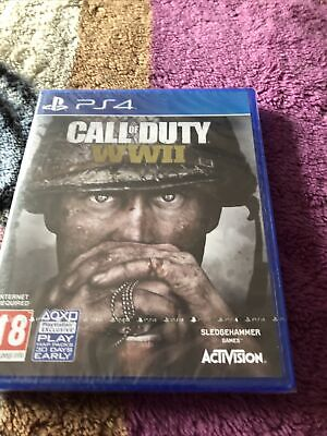 Call Of Duty WWII COD World War 2 PS4 Still In Cellophane New • 9.99£