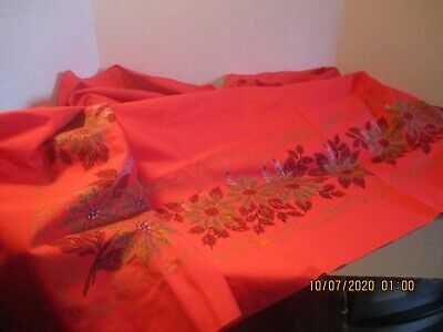 $ CDN6.07 • Buy Vintage Red Christmas Tablecloth
