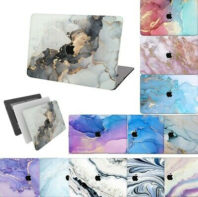 $18.36 • Buy For New Macbook Pro Air Matte Painted Marble Rubberized Hard Cut Out Case Cover