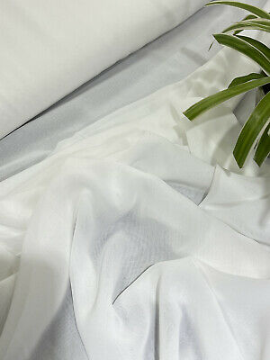 £3.99 • Buy Chiffon Georgette Off White Fabric Soft Dress Veil Blouse Lining Drapes Display