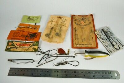 $ CDN23.66 • Buy Vintage Hook & Harness Antique Fishing Lure Lot LC47