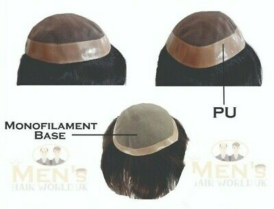 £124.99 • Buy Men's Hairpiece Mens Hair Replacement System Toupee Wigs 100% Remy HAIR UK SALES