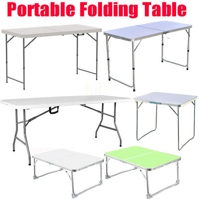 £19.90 • Buy Folding Camping Tables Outdoor Garden Picnic Festival Fishing Portable BBQ Patio