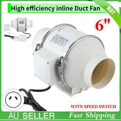 AU36.99 • Buy 6  Inch Silent Extractor Fan Duct Hydroponic Inline Exhaust Vent Industrial AU