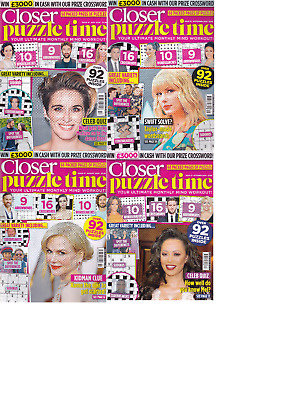 £5.99 • Buy 4 X Closer Puzzle Time Book Mag Mixed Puzzles Spot The Difference Wordsearch+++