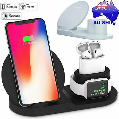 AU24.90 • Buy 3in1 QI Wireless Charger Charging Station Dock For Apple Watch / IPhone/ AirPod