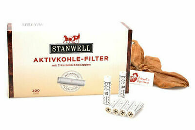 AU43.51 • Buy 9mm Active Charcoal Smoking Pipe Filter STANWELL - Box Of 200 Filters