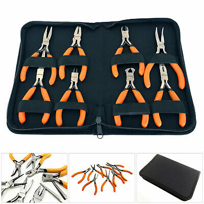 £10.99 • Buy 8pc Mini Precision Crv Pliers Set With Case Jewellery Making Crafts Electronics
