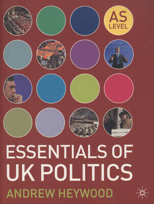 £3.02 • Buy Essentials Of UK Politics By Andrew Heywood (Paperback) FREE Shipping, Save £s
