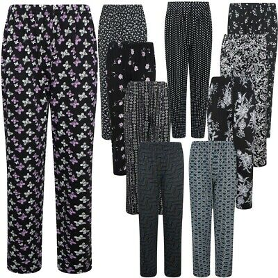 £7.75 • Buy Womens Ladies Plazzo Trousers Floral Print Elasticated Summer Lounge Casual Pant