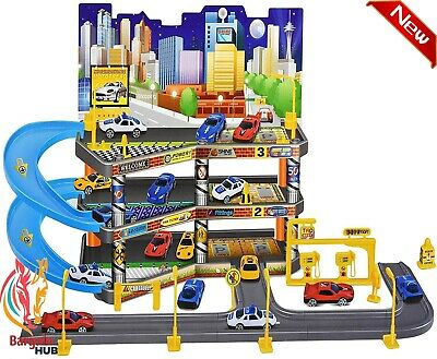 £16.19 • Buy Childs Car Park Parking Garage Petrol Station With Die Cast Cars Play Set Toy
