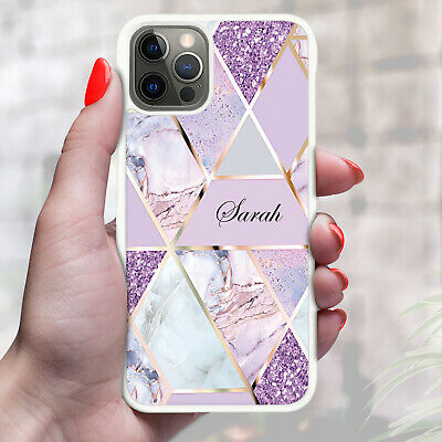 AU10.85 • Buy Personalised Marble Phone Case Cover For Apple Samsung Initial Name - Ref Z09