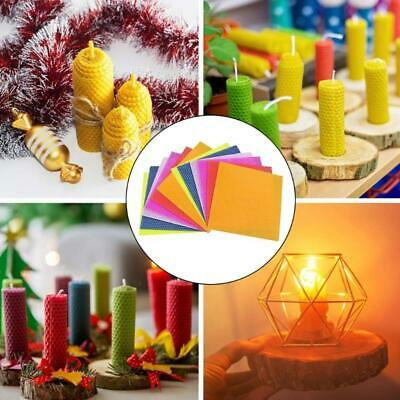 £13.09 • Buy 12PCs Beeswax Candle Making Kit DIY Colorful Honeycomb Sheets Rolling Candle Kit