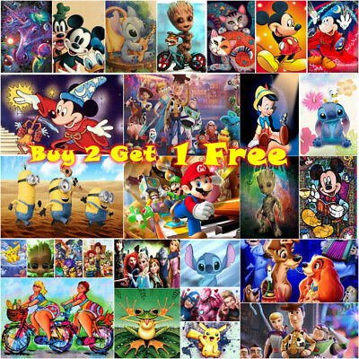 £5.99 • Buy 5D Full Drill Diamond Painting Kits Embroidery Cartoon Character Picture Mural