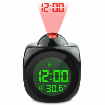 £12.99 • Buy LED Digital Projection Alarm Clock Voice Talking Temperature Wall/Ceiling LCD UK