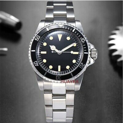 £69.99 • Buy Sterile Vintage Black Bezel Submariner Homage Watch Automatic No Date