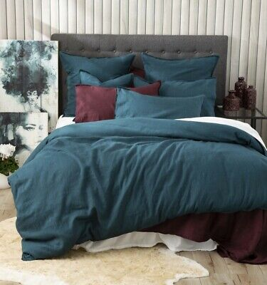 $ CDN182.61 • Buy Renee Taylor Cavallo 100% French Linen Quilt Cover Set- Evergreen