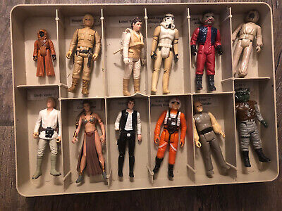 $ CDN81.58 • Buy Vintage Star Wars Vinyl Carrying Case Tray W/12 Rebel Empire Action Figures  Lot