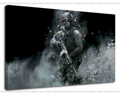 £38.99 • Buy Call Of Duty Soldier Walking With Assault Rifle Canvas Print Wall Art Framed