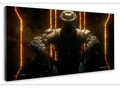 £38.99 • Buy Call Of Duty Black Ops 3 Neon Orange Cover Image Canvas Print Wall Art Framed