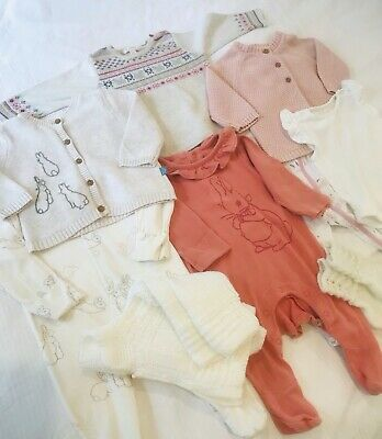 AU25 • Buy Cutest Baby Girl Clothes Bundle 0-3 Months And 6-12 Months Bunny Rabbit