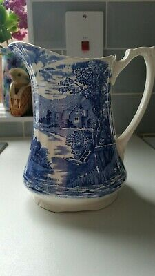 Alfred Meakin Blue And White Jug • 4£