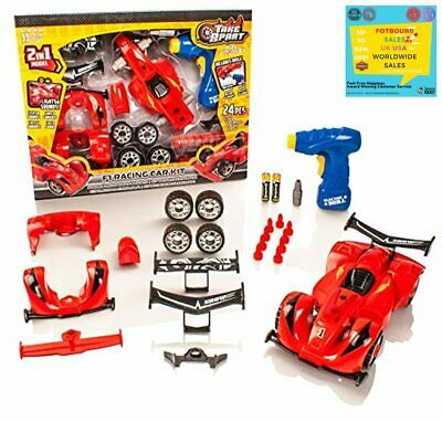 £15.56 • Buy Take Apart® Construction Toy - 2 In 1 F1 Racing Car Kit - Build Your Own Set Fo