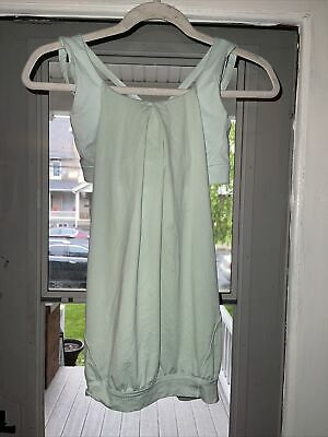 $ CDN7.26 • Buy Lululemon Light Blue Cage Back Jersey Overlay Built In Bra Tank Top Size 4