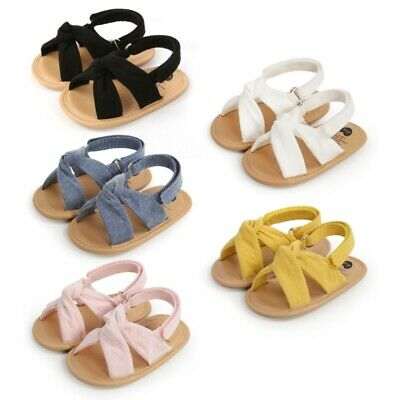 £6.99 • Buy Baby Sandals Toddler Newborn Boy Girl Non Slip Cloth Walking Shoes Trainer Shoes