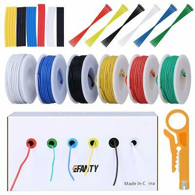 22AWG Electronics Wire Kit, Jumper Wire Hook Up Wire Kit Flexible Silicone Wire • 21.85£