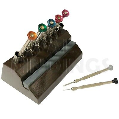 £12.99 • Buy 7 Screwdriver Storage Stand Sharpening Stone Wooden Base WATCHMAKER Tool