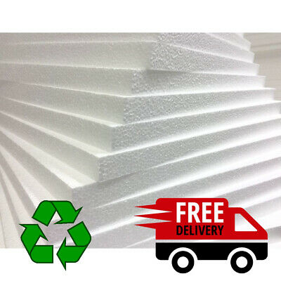 £15.99 • Buy Expanded Polystyrene Eps Foam Packing Insulation Sheets *qty's* Different Sizes