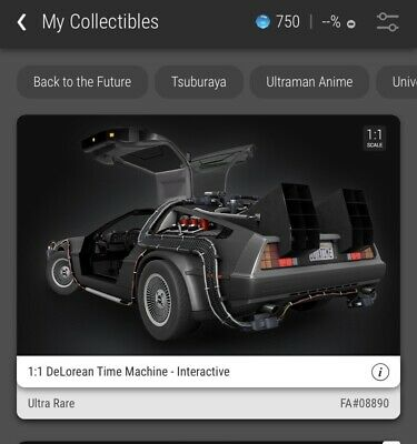 $500 • Buy VEVE NFT DELOREAN TIME MACHINE FULL SET.  1stEDITION.  SOLD OUT