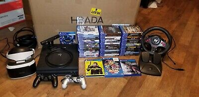 AU1249.75 • Buy 50 PS4 Games & 1TB Pro Console Lot! VR System W/ Special Controller! Cyberpunk!