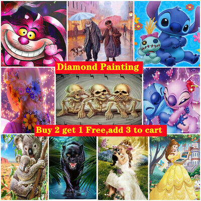 £5.49 • Buy DIY 5D Diamond Painting With Full Colored Drill Kit Art Picture Embroidery Mural