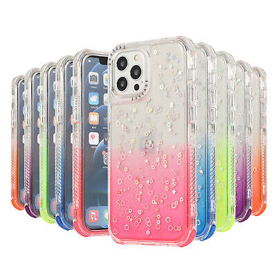 AU10.99 • Buy For IPhone 12 11 Pro Max XS XR 7 8 Soft Silicone Bling Glitter Clear Case Cover