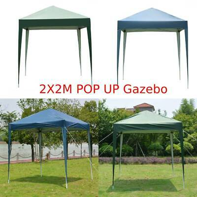£44.99 • Buy 2x2m Garden Pop Up Gazebo Marquee Party Tent Wedding Canopy NO-Side 2 Colours UK