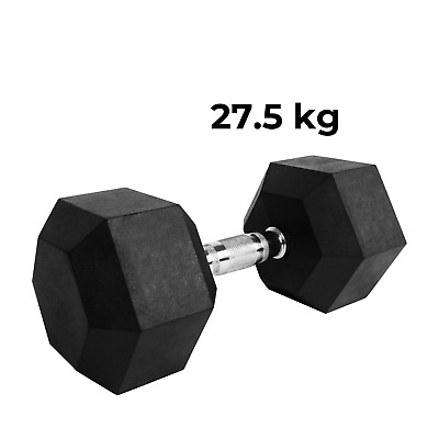 AU100.99 • Buy Verpeak Rubber Hex Dumbbell 27.5 Kg Weight Training Home Gym Fitness