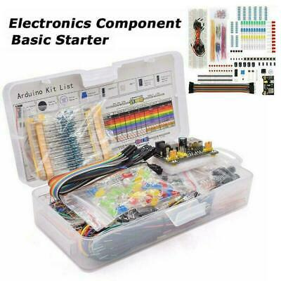Electronic Component Starter Kit Wires Breadboard Buzzer Transistor LED O2B2 • 10.74£