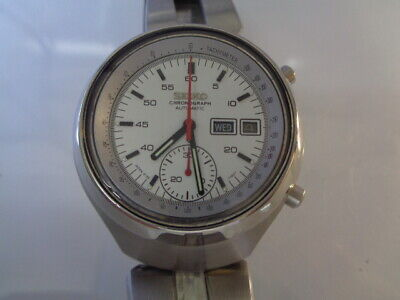 $ CDN14.51 • Buy Seiko Chronograph Mens Watch 6139-7100 Automatic Day & Date White Dial Helmet