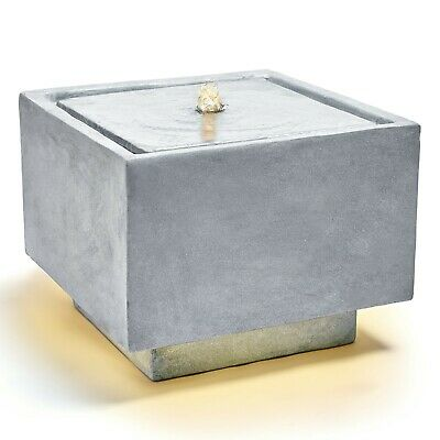 £139.99 • Buy VonHaus Stone-Effect Water Feature W/ LED Lights – Freestanding Square Design