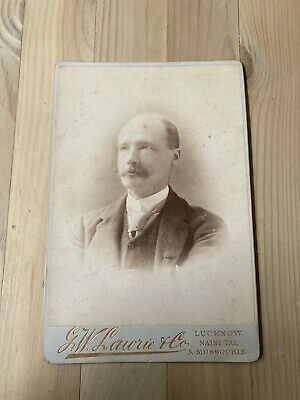 £10 • Buy Lovely Victorian Cabinet Card G W Lawrie & Co Lucknow India Portrait Man