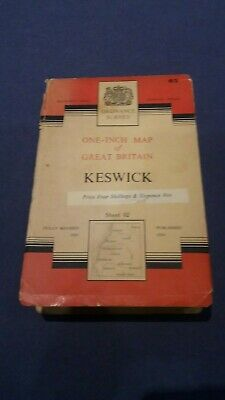 Ordnance Survey Map - Keswick Sheet 82 -published 1954 • 3.99£