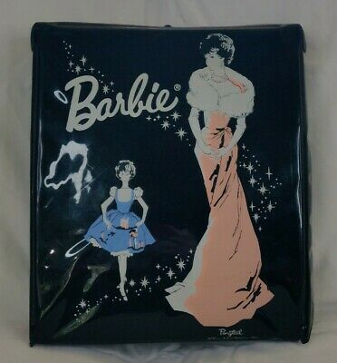 $ CDN12.08 • Buy Vintage 1962 Barbie Doll PonyTail Carry Case Black Mattel Enchant Evening, Vinyl