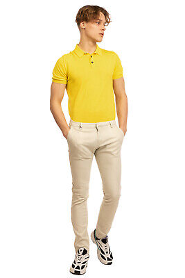 $ CDN18.79 • Buy RRP€125 MICHAEL COAL Chino Trousers Size 32 Stretch Patterned Slim Made In Italy